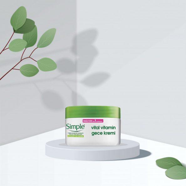 کرم شب سیمپل مدل Vital Vitamin حجم ۵۰ میل